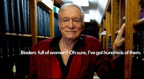 プレイボーイの創始者ヒュー・ヘフナー Binders Full Of Women